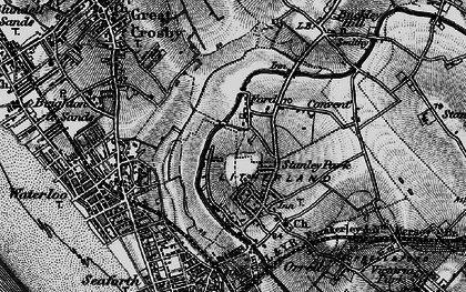 Old map of Litherland in 1896