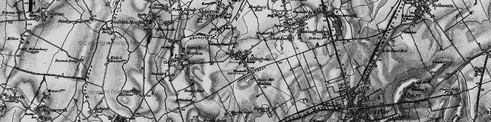 Old map of Limlow Hill in 1896