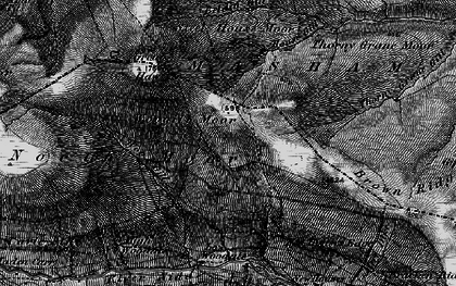 Old map of Woodale Scar in 1897