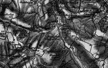 Old map of Almshoe Bury in 1896