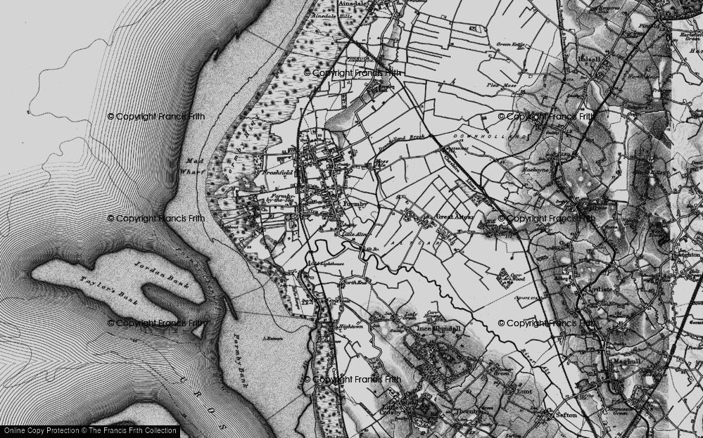 Old Map of Historic Map covering Alt Bridge in 1896