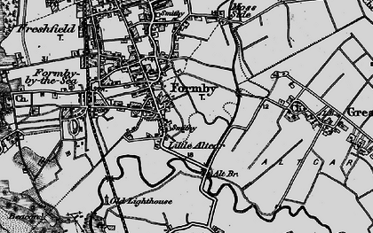 Old map of Alt Bridge in 1896