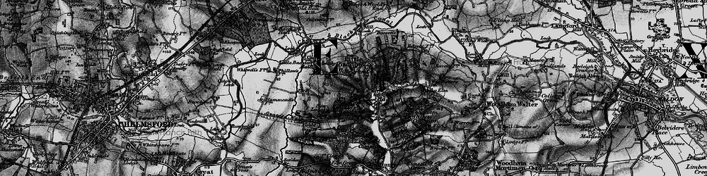 Old map of Little Baddow in 1896