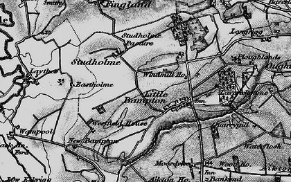 Old map of Bampton Beck in 1897