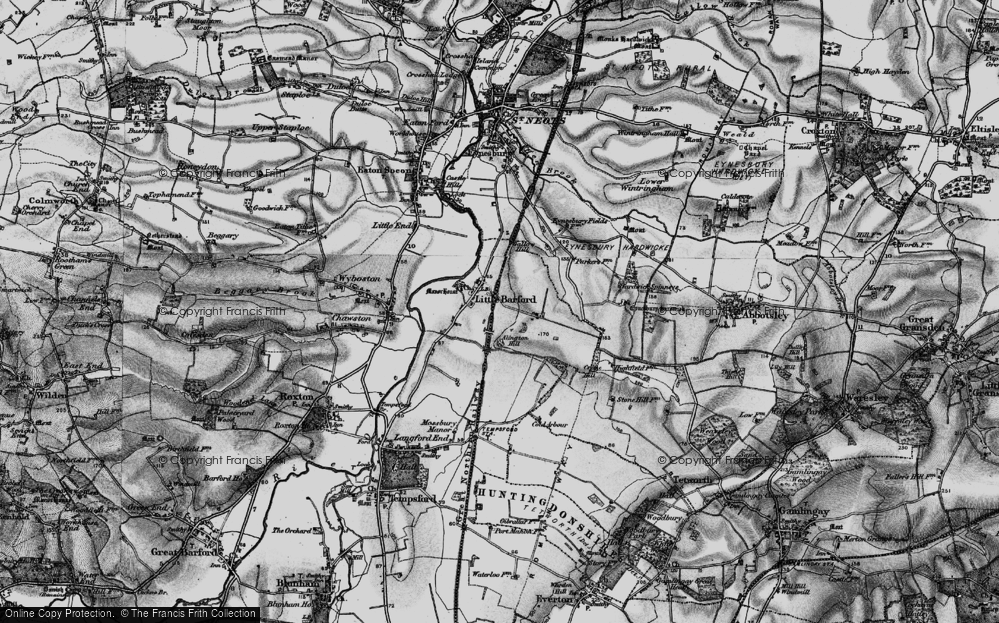 Old Map of Historic Map covering Alington Hill in 1898