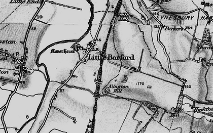 Old map of Alington Hill in 1898