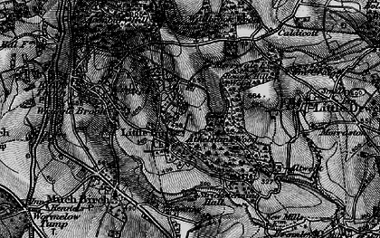 Old map of Athelstans Wood in 1896