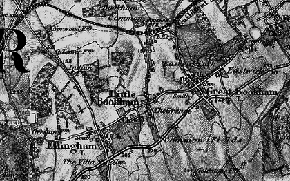 Old map of Little Bookham in 1896