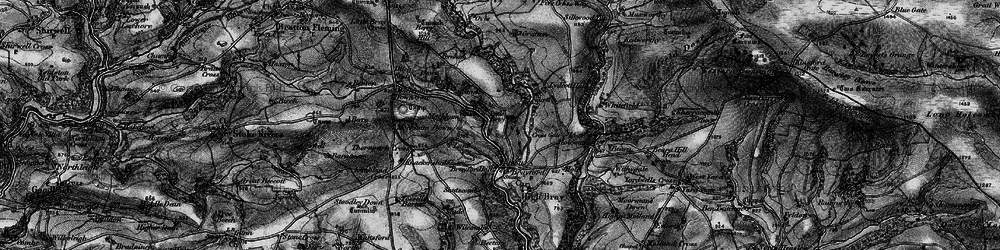 Old map of Wort Wood in 1898