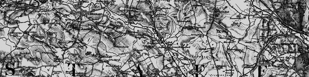 Old map of Worston Hall in 1897