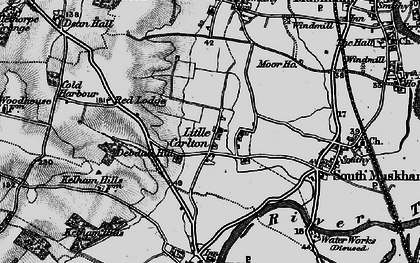 Old map of Little Carlton in 1899