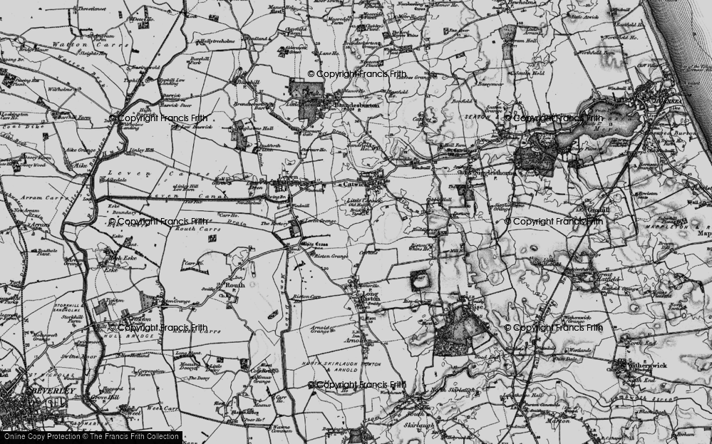 Old Map of Historic Map covering Riston Grange in 1897