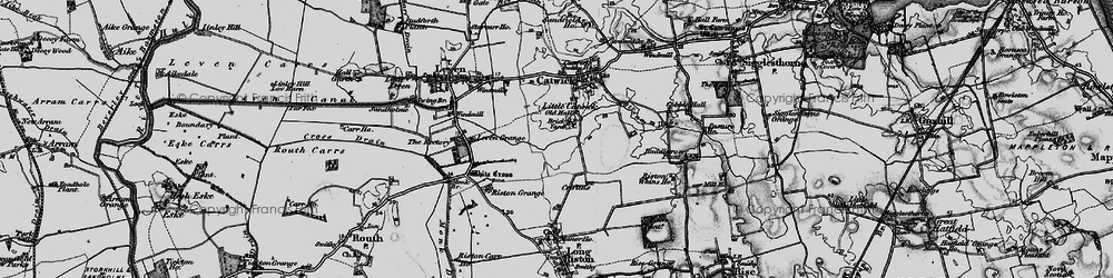 Old map of Riston Grange in 1897