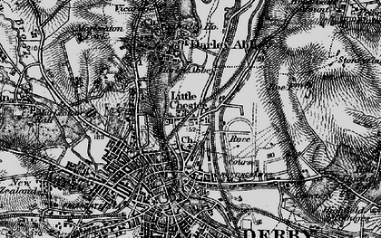 Old map of Little Chester in 1895