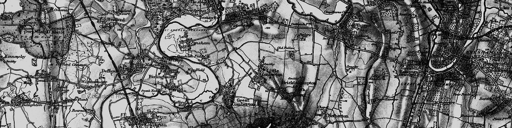 Old map of Little Comberton in 1898