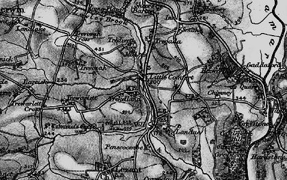 Old map of Little Comfort in 1896