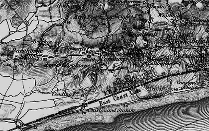 Old map of Little Common in 1895