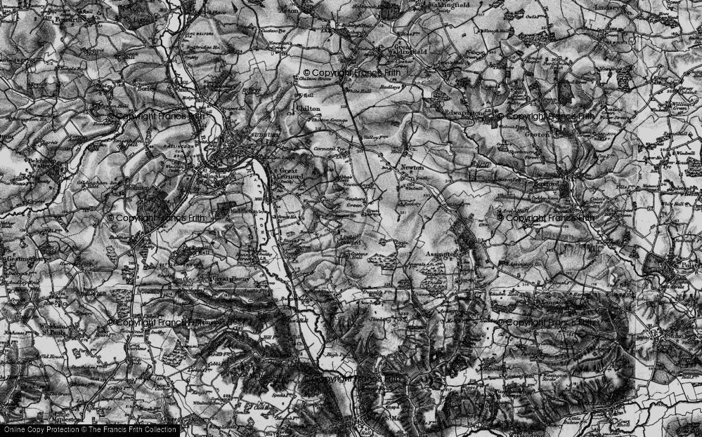 Old Map of Little Cornard, 1895 in 1895