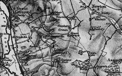 Old map of Little Cornard in 1895