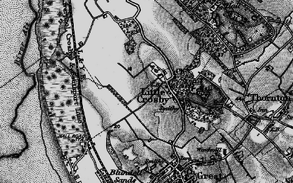 Old map of Little Crosby in 1896