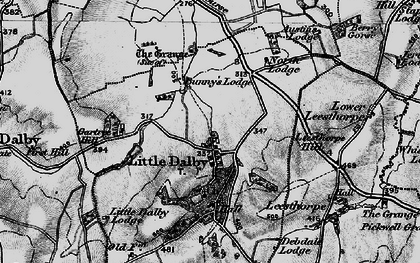 Old map of Wild's Lodge in 1899