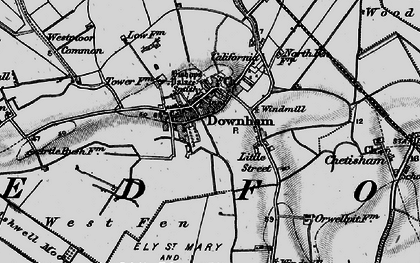 Old map of Westmoor Common in 1898