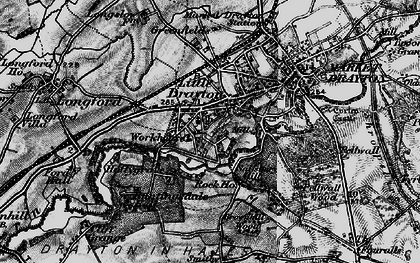 Old map of Pell Wall in 1897