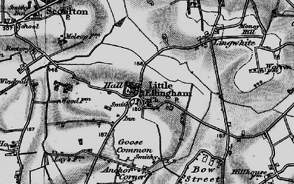Old map of Lingwhite in 1898