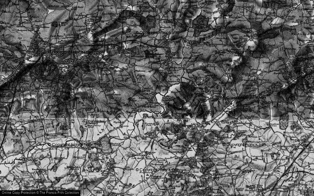 Old Map of Historic Map covering Aspen Wood in 1896