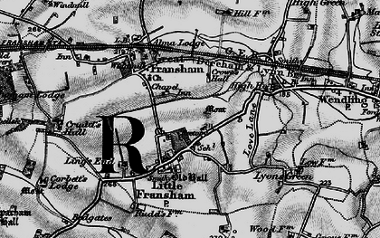 Old map of Ling's End in 1898