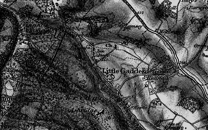 Old map of Ashridge (Coll) in 1896