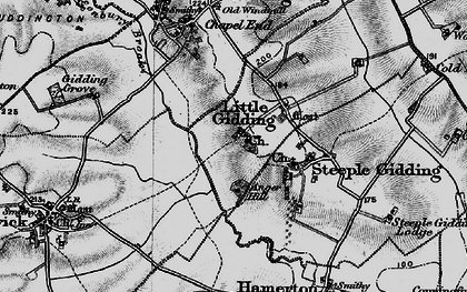 Old map of Alconbury Brook in 1898