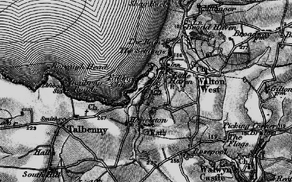 Old map of Little Haven in 1898