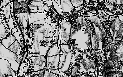 Old map of Moneymore in 1899
