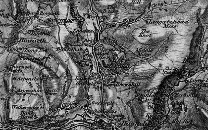 Old map of Little Hayfield in 1896