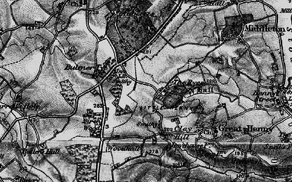 Old map of Auberies in 1895