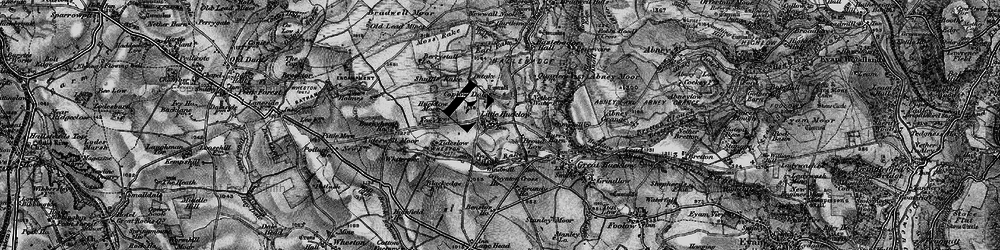 Old map of Whiterake in 1896