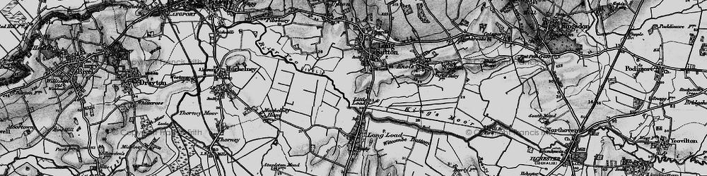 Old map of Wet Moor in 1898