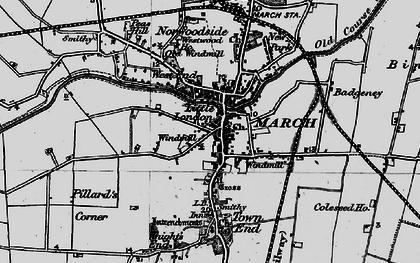 Old map of Badgeney in 1898