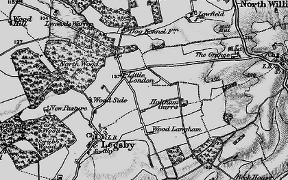 Old map of Willingham Woods in 1899