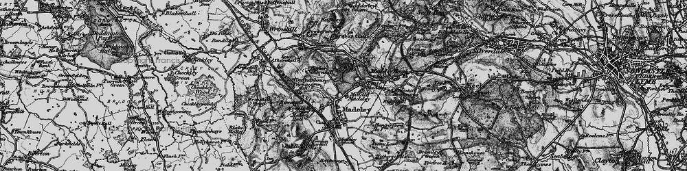 Old map of Windy Arbour in 1897