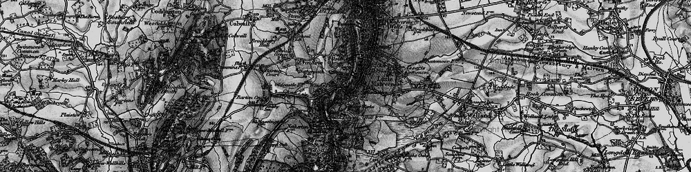 Old map of Little Malvern in 1898