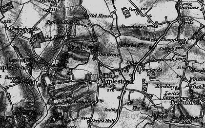 Old map of Ashford Lodge in 1895