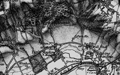Old map of Little Marlow in 1895