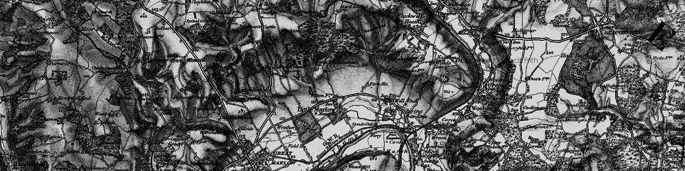 Old map of Westhorpe Ho in 1895