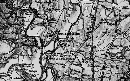 Old map of Little Mitton in 1898