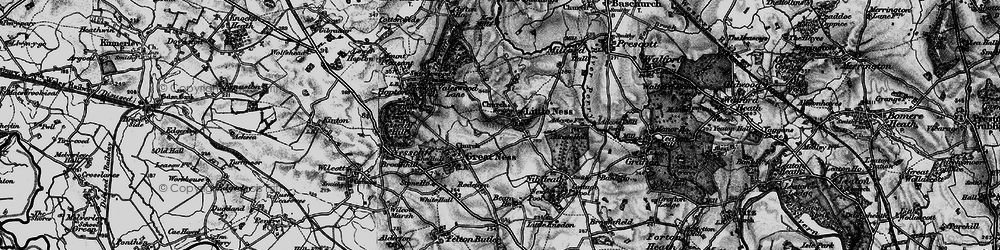 Old map of Adcote in 1899
