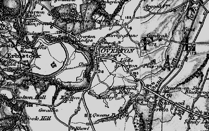 Old map of Argoed in 1897