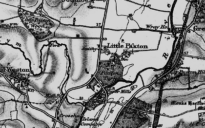 Old map of Little Paxton in 1898
