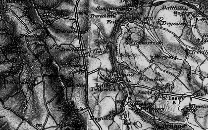 Old map of Little Petherick in 1895